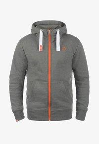 Solid - BENN  - Zip-up hoodie - grey melange - 4