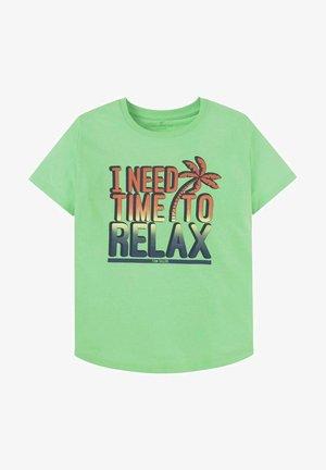 MIT PRINT - Print T-shirt - washed neon green green