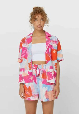 LOOSE FITTING SHORT SLEEVE SHIRT  - Chemisier - neon pink