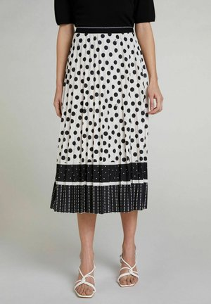 A-line skirt - offwhite black