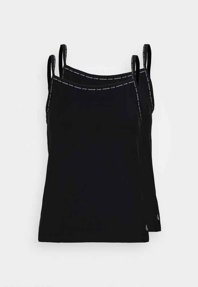 CAMISOLE 2 PACK - Camiseta interior - black