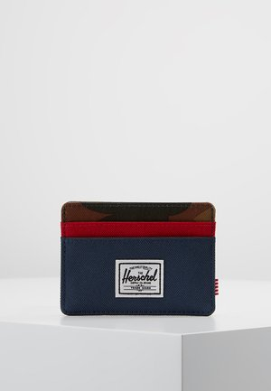 CHARLIE - Portfel - navy/red/woodland camo