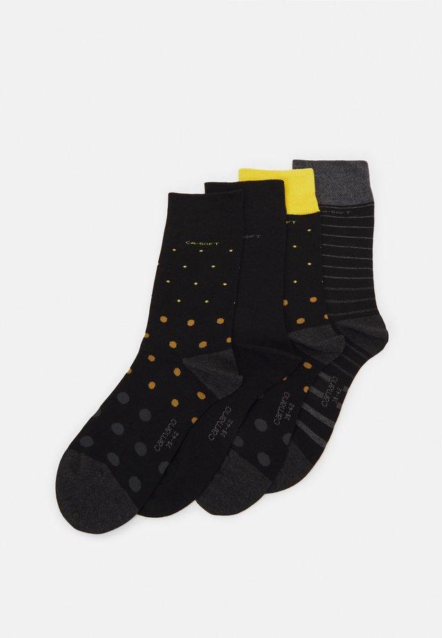 ONLINE SOFT SOCKS UNISEX 4 PACK - Sokken - black