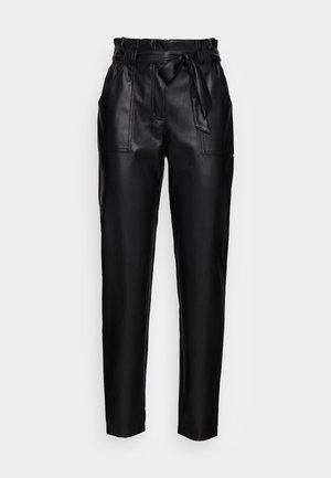 ONLDIONNE  FAUX  PANT - Trousers - black