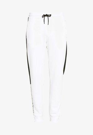 OGO STRIPE  - Tracksuit bottoms - white