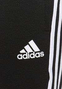 adidas Performance - COLORBLOCK ESSENTIALS - Tracksuit bottoms - black/medium grey heather - 4