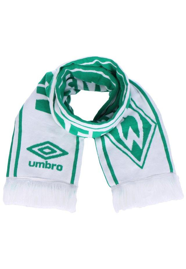 SV WERDER BREMEN UNITED SCHAL - Scarf - golf green/white