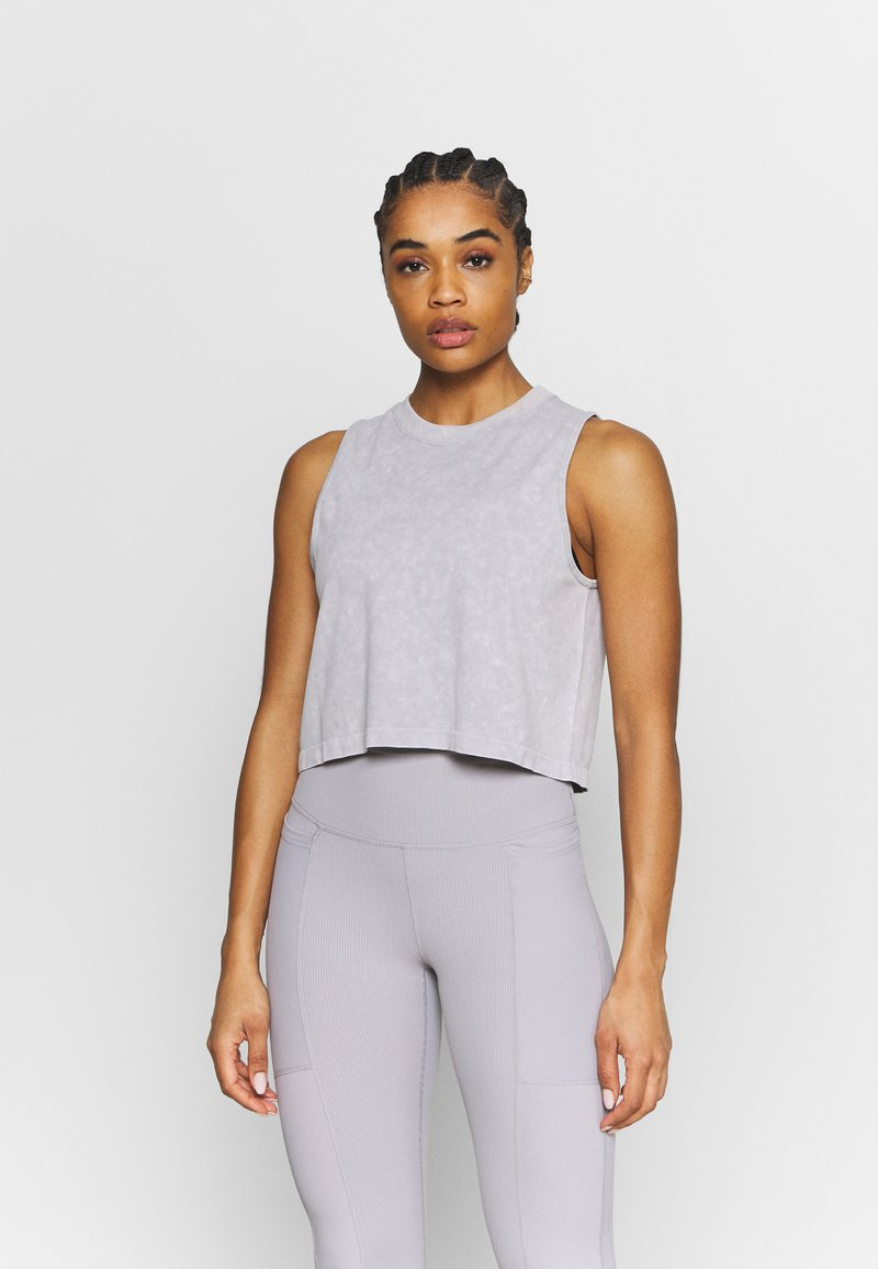 Cotton On Body - LIFESTYLE SEAMLESS YOGA CROPPED TANK - Top - quail wash