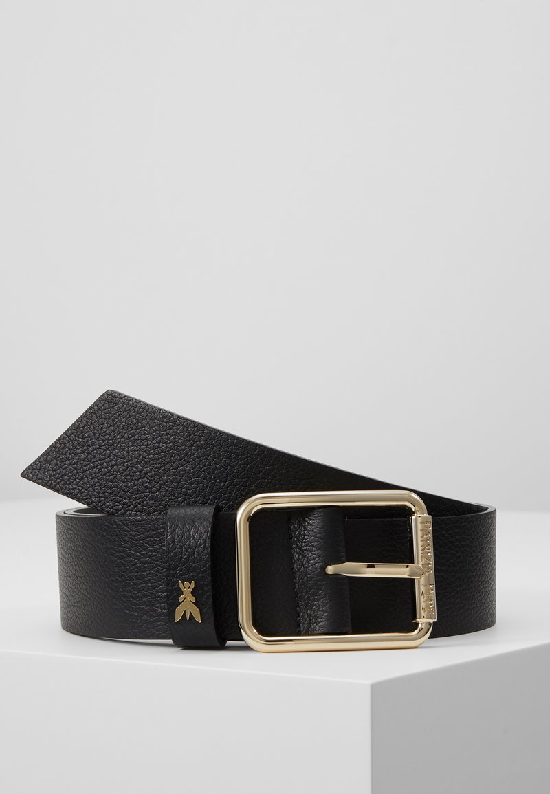 Patrizia Pepe - CINTURA BELT - Pasek - nero/gold-coloured