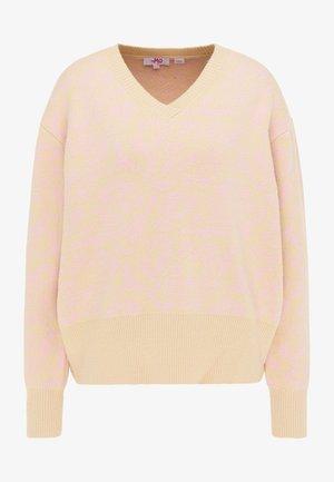 STRICKPULLOVER - Trui - beige rosa