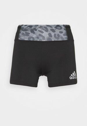 SHORT - Leggings - black/grey four