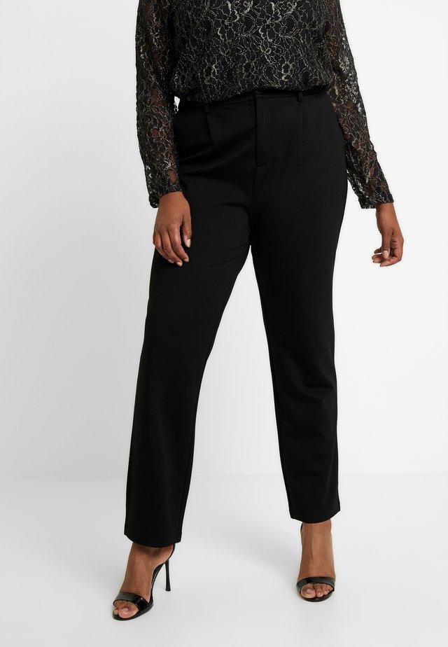 CARGOLDTRASH  STRAIGHT PANT - Spodnie materiałowe - black