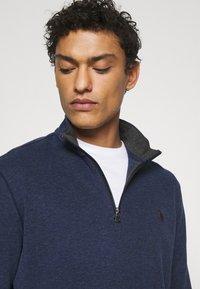 Polo Ralph Lauren - JERSEY QUARTER-ZIP PULLOVER - Sweatshirt - spring navy heather - 4