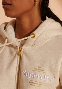 Superdry - Zip-up hoodie - oatmeal marl - 2