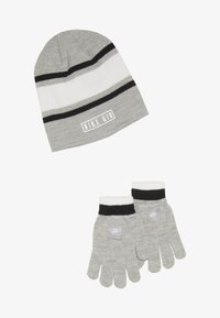 Nike Sportswear - STRIPE BEANIE GLOVE SET - Handsker - grey heather - 3