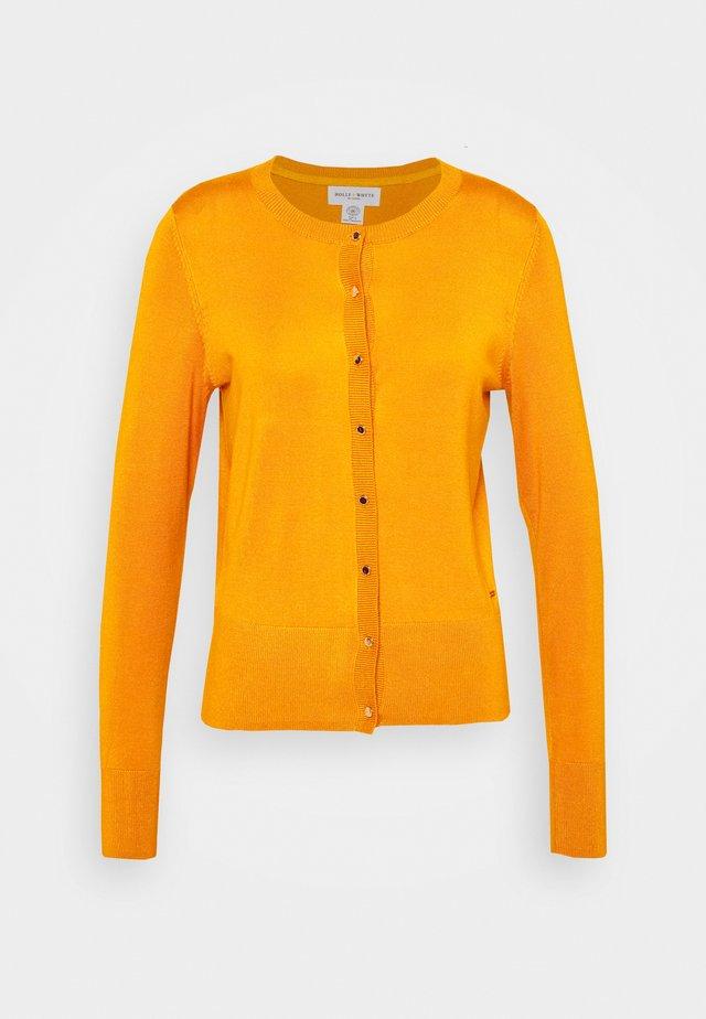 ANNA - Strikjakke /Cardigans - dark dusty yellow