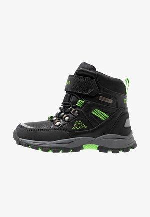 SKUBB TEX - Hiking shoes - black/green