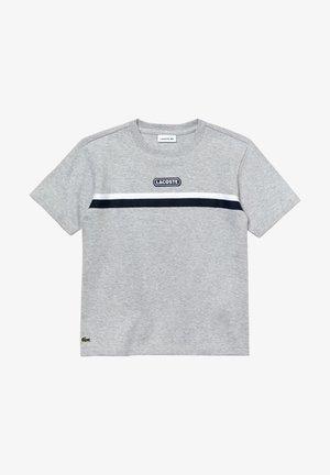 TEE SHIRTS & TURTLE NECK SHIRTS - T-shirt imprimé - argent chine/blanc-marine