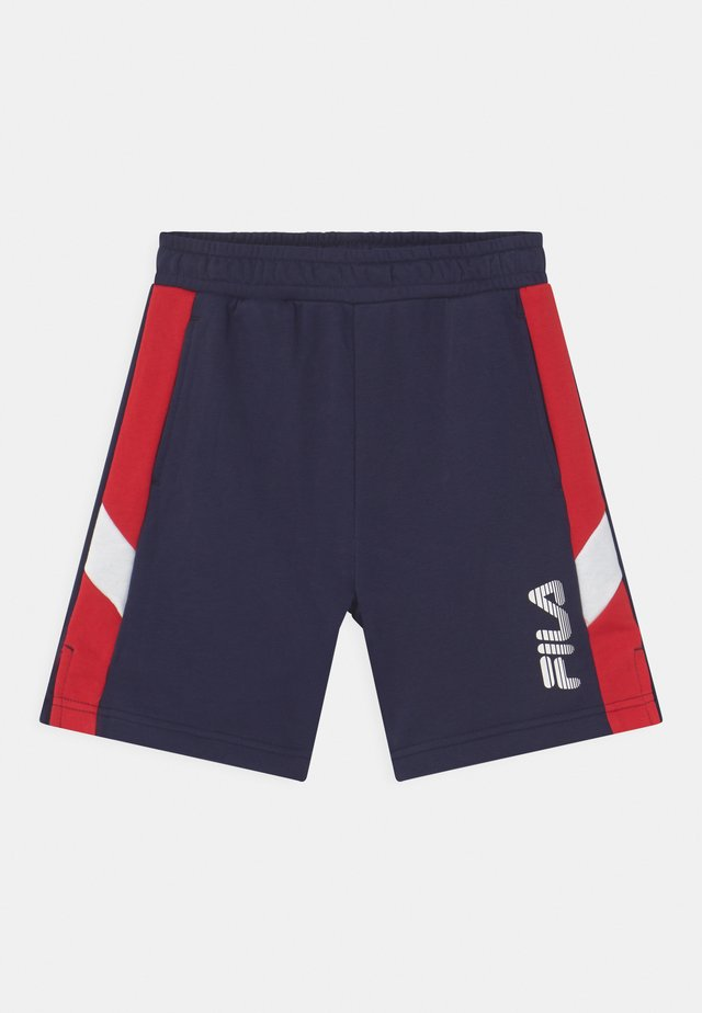 MIO - Teplákové kalhoty - black iris/true red/bright white