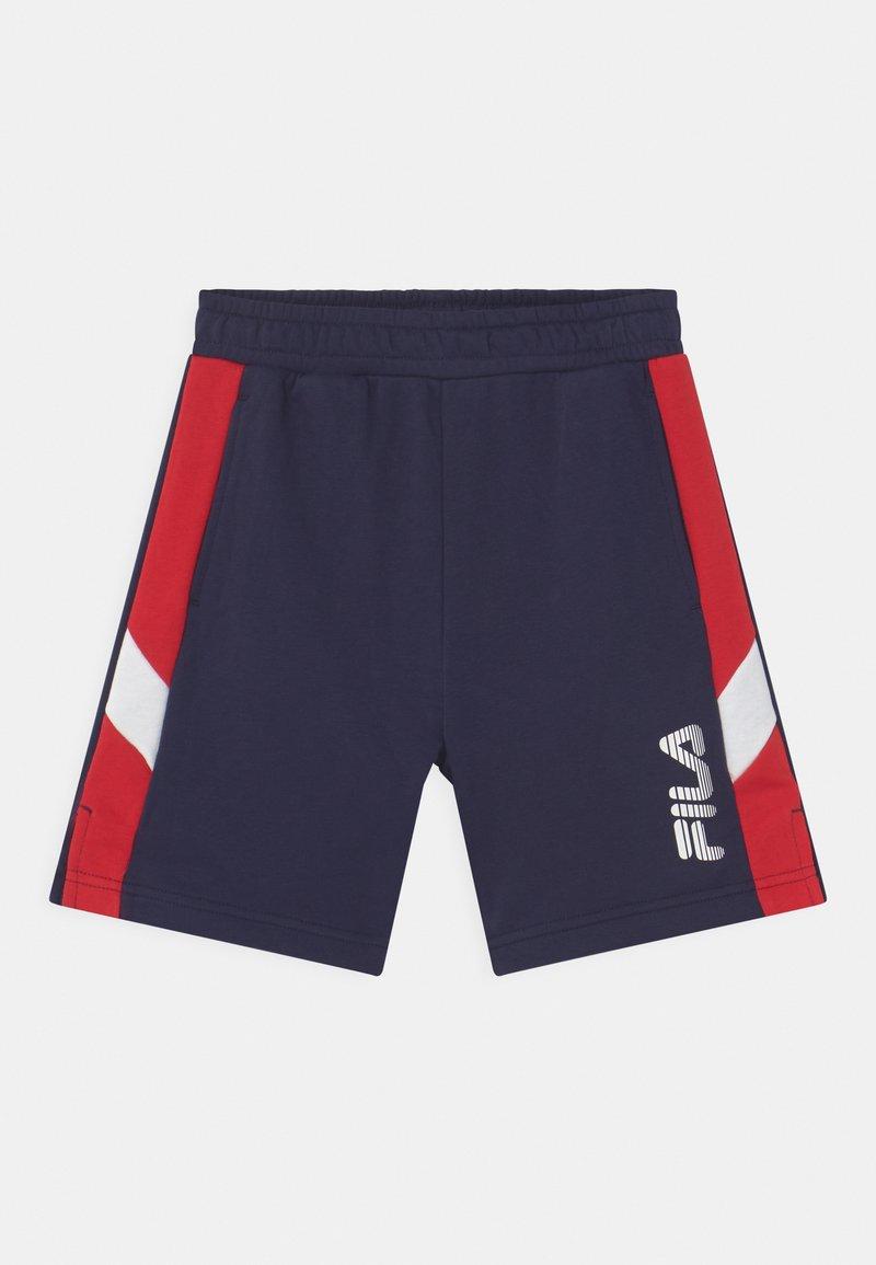 Fila - MIO - Tracksuit bottoms - black iris/true red/bright white