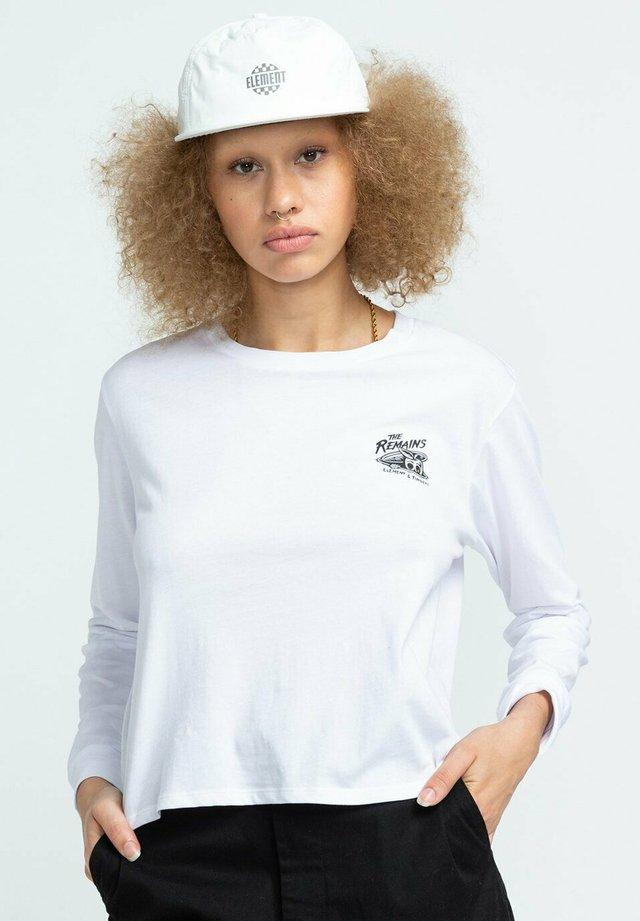 B SIDE CROP - Long sleeved top - optic white