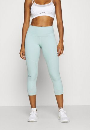 UA RUSH SIDE PIPING CROP - 3/4 sports trousers - enamel blue