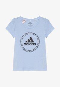 adidas Performance - PRIME TEE - T-shirts print - glow blue/black - 2