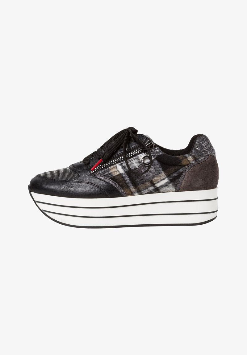 s.Oliver - SNEAKER - Trainers - black comb