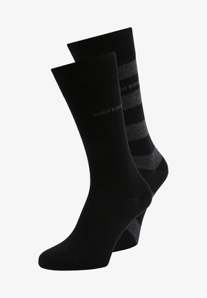 BLOCK STRIPE 2 PACK - Socks - black
