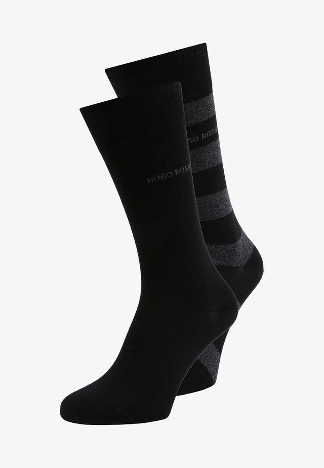 BLOCK STRIPE 2 PACK - Socks - black