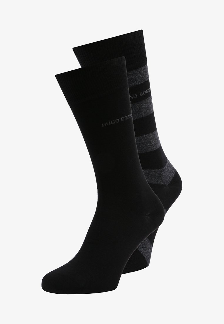 BOSS - BLOCK STRIPE 2 PACK - Socks - black