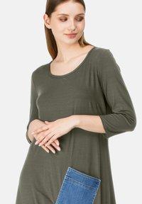 HELMIDGE - Maxi dress - khaki - 3