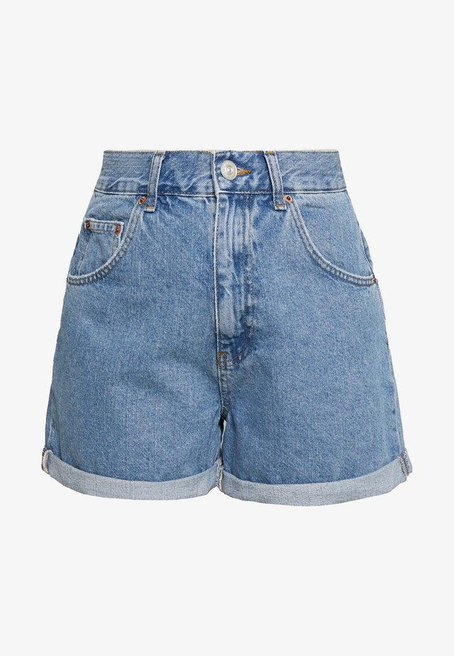 ROLLED MOM SHORT - Short en jean - dark vintage