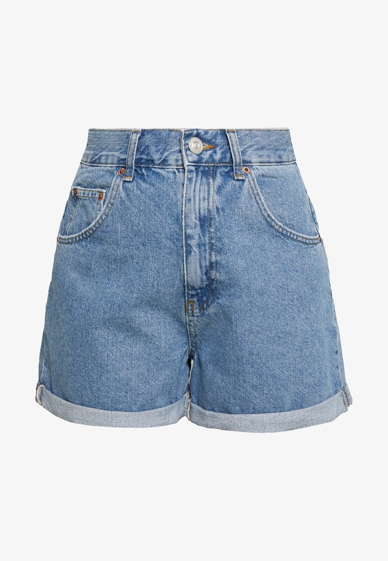 BDG Urban Outfitters - ROLLED MOM SHORT - Jeans Shorts - dark vintage