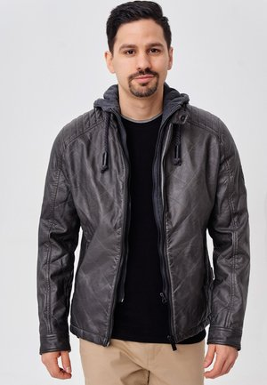 ECKROTE - Faux leather jacket - raven