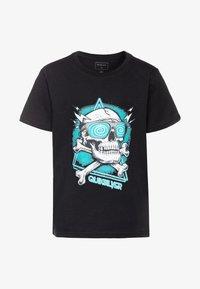 Quiksilver - HELL REVIVAL - T-shirt z nadrukiem - black - 0