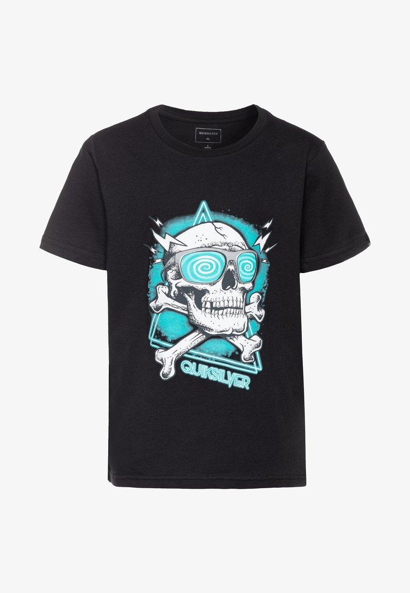 Quiksilver - HELL REVIVAL - T-shirt z nadrukiem - black