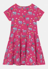Frugi - SPRING SKATER RAINBOW ELEPHANTS - Jersey dress - deep pink - 1