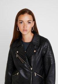 River Island - CATO JACKET - Leather jacket - black - 3