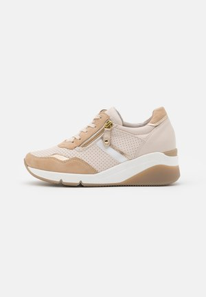 Trainers - ivory/caramel/gold