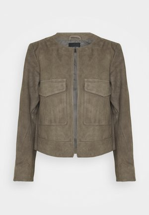 SLFMONAY SUEDE JACKET - Leather jacket - granite grey