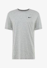 TEE CREW SOLID - T-shirt - bas - dk grey heather