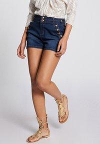 Morgan - Denim shorts - blue denim - 0