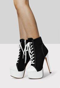 Only Maker - Lace-up ankle boots - black denim - 0
