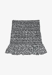 Bershka - MIT VOLANTS  - Mini skirt - black - 6