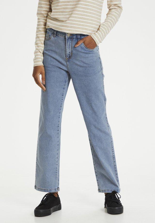 Jeans a sigaretta - light blue washed denim