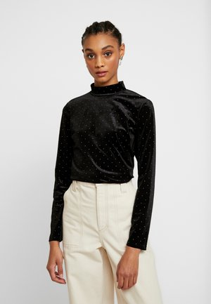 PIRA - Long sleeved top - black/silver