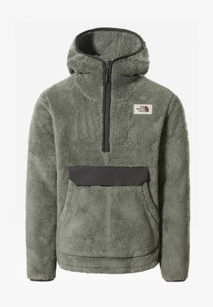 M CAMPSHIRE PULLOVER HOODIE - Huppari - agave green/asphalt grey