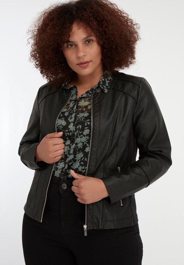 JACK  - Faux leather jacket - black