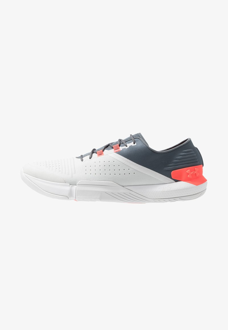 Under Armour - TRIBASE REIGN - Obuwie treningowe - pitch gray/halo gray/beta red